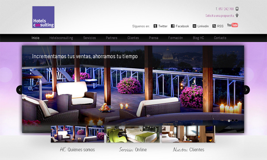 Diseo nueva web Hotelsconsulting